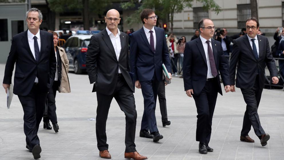 Los consellers cesados camino de la Audiencia