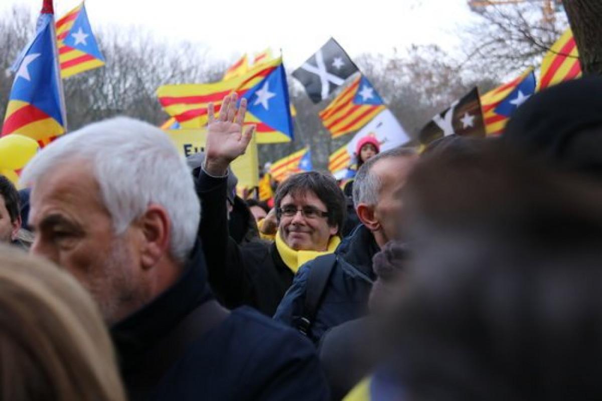 Carles Puigdemont participa en la manifestaciu00f3n de Bruselas