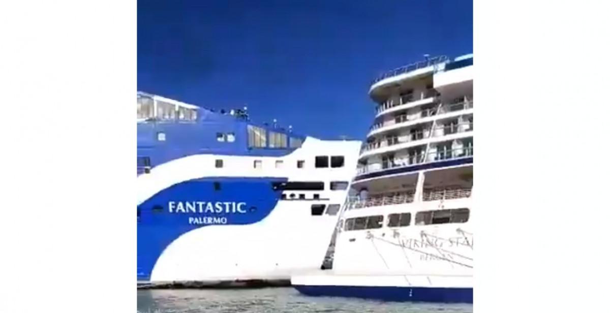 Choque ferry barco barcelona