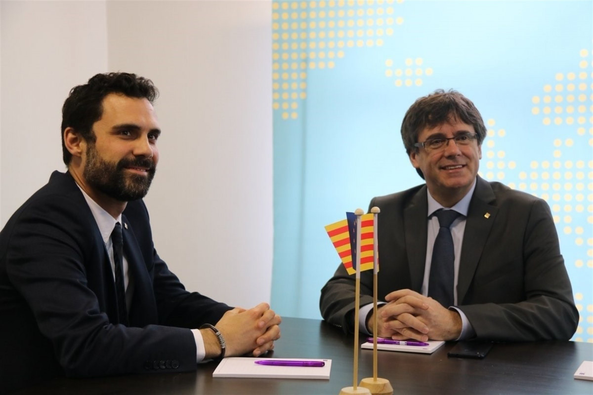 Torrent y puigdemont en bruselas