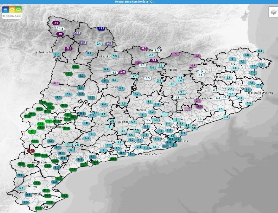 Mapa tiempo catalunya fru00edo siberiano 26022018