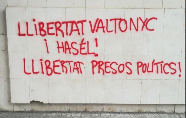 Ciudadanos cs lleida pintada ataque amenazas 29032018