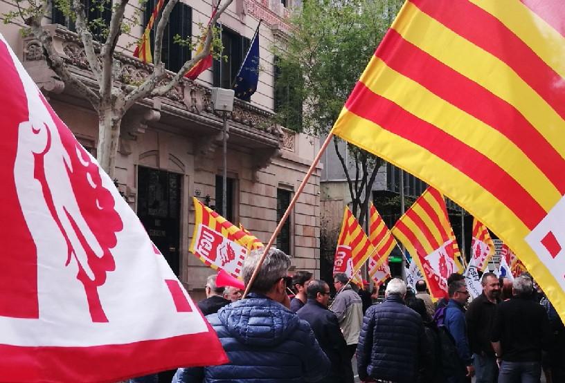 Manifestaciu00f3n policu00eda local mossos jubilaciu00f3n anticipada delegaciu00f3n gobierno barcelona 06042018