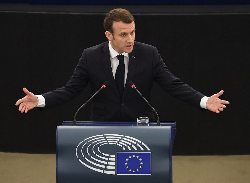 Emmanuel macron parlamento europeo 17042018