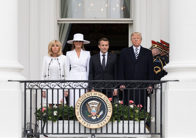 Macron trump 24042018