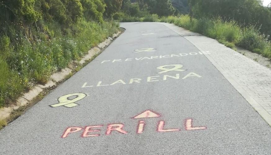 Pintadas llarena carretera acceso escuela judicial barcelona 03052018