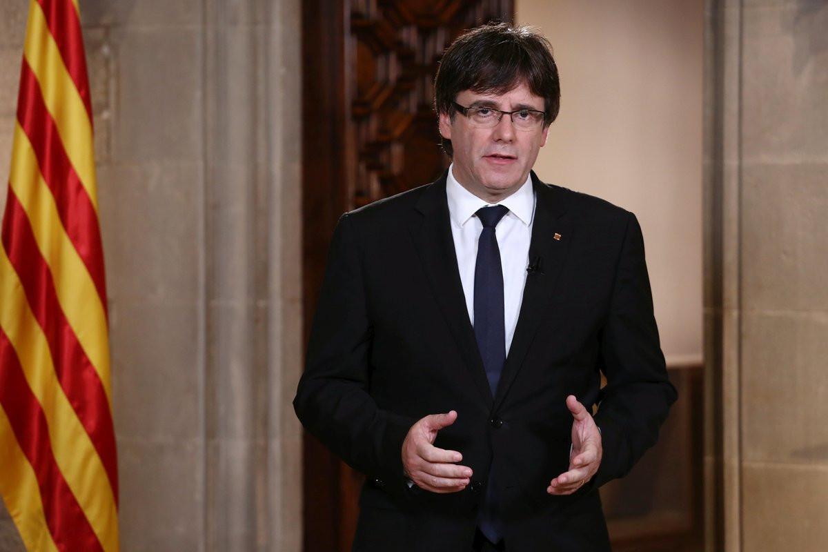 Carles Puigdemont Mensaje Institucional