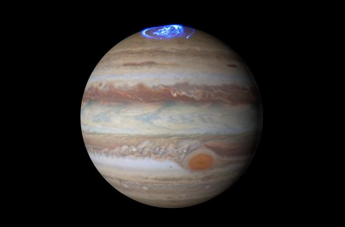 Auroras en planeta jupiter