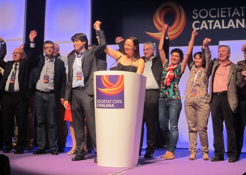 Societat Civil Catalana durante su presentación