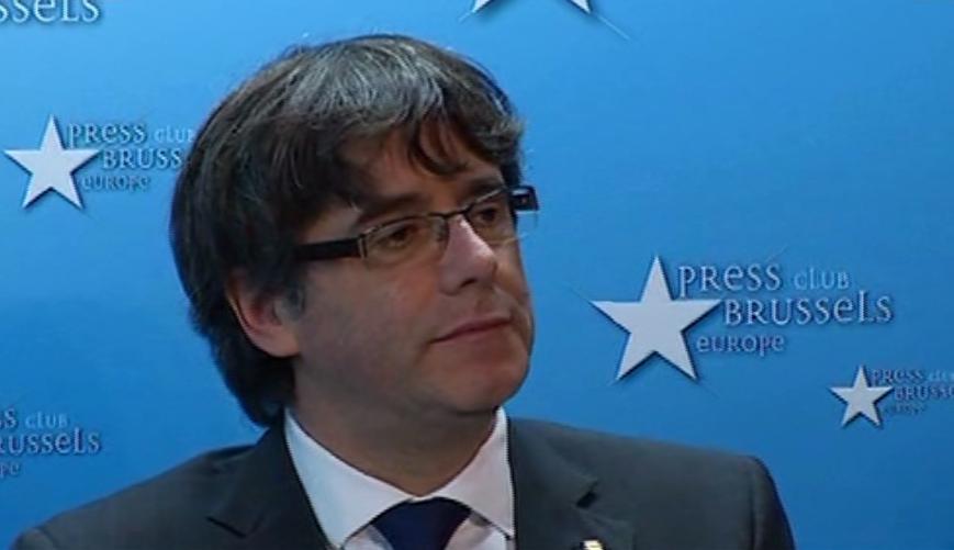 Puigdemont habla desde bruselas