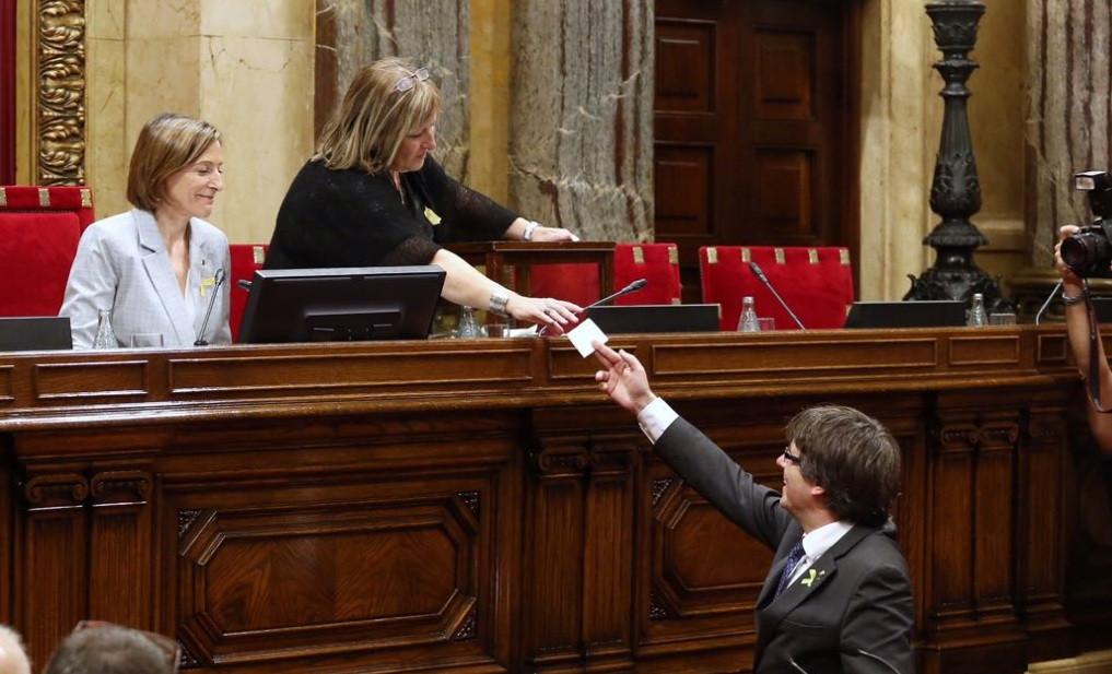 Puigdemont voto