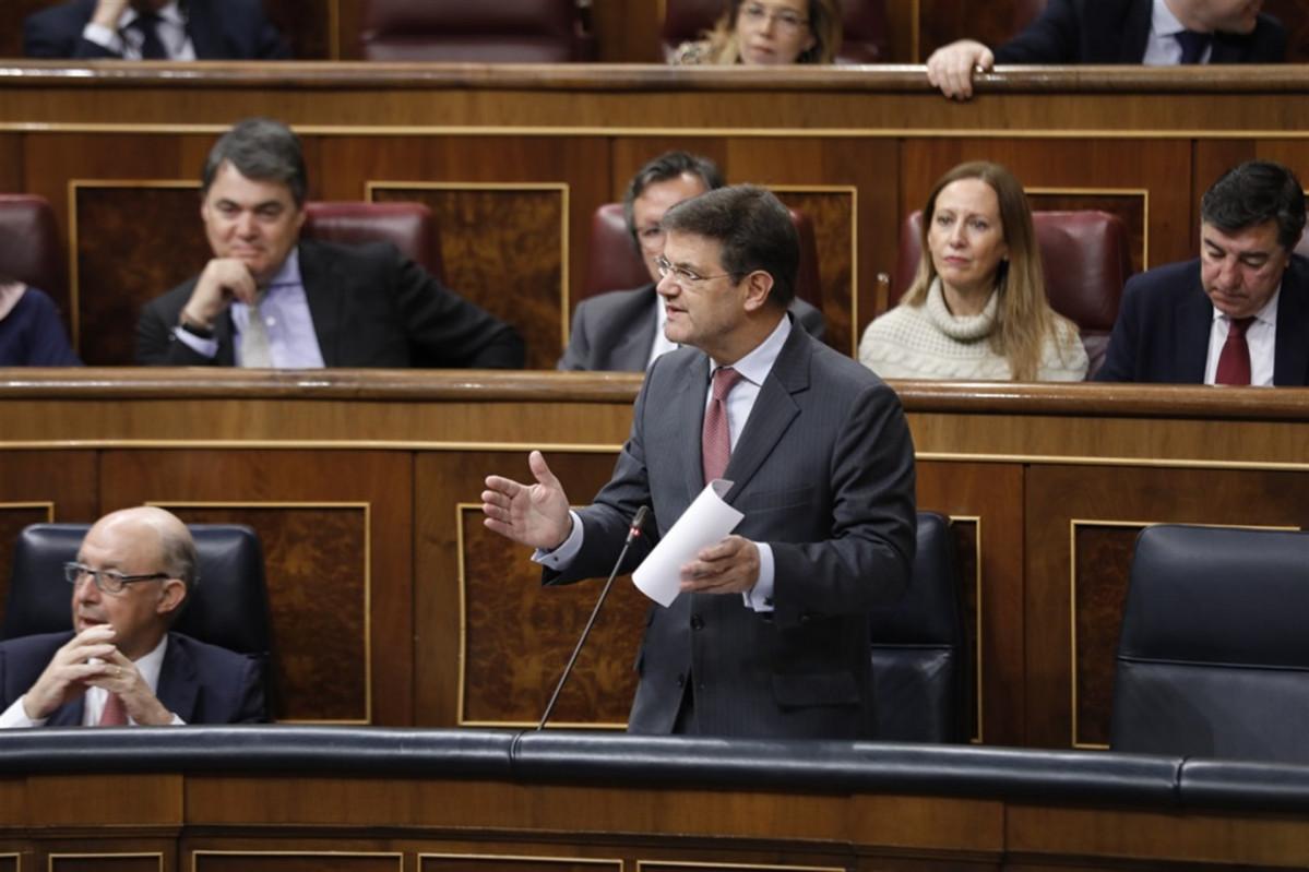 Ministro de justicia rafael catalá en el congreso