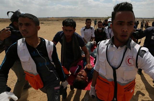 Palestina gaza embajada eeuu israel marcha contra traslado