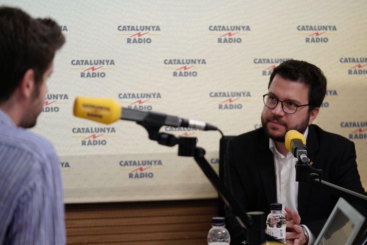 El vicepresidente catalu00e1n, Pere Aragonu00e8s, en Catalunya Ru00e0dio CCMA