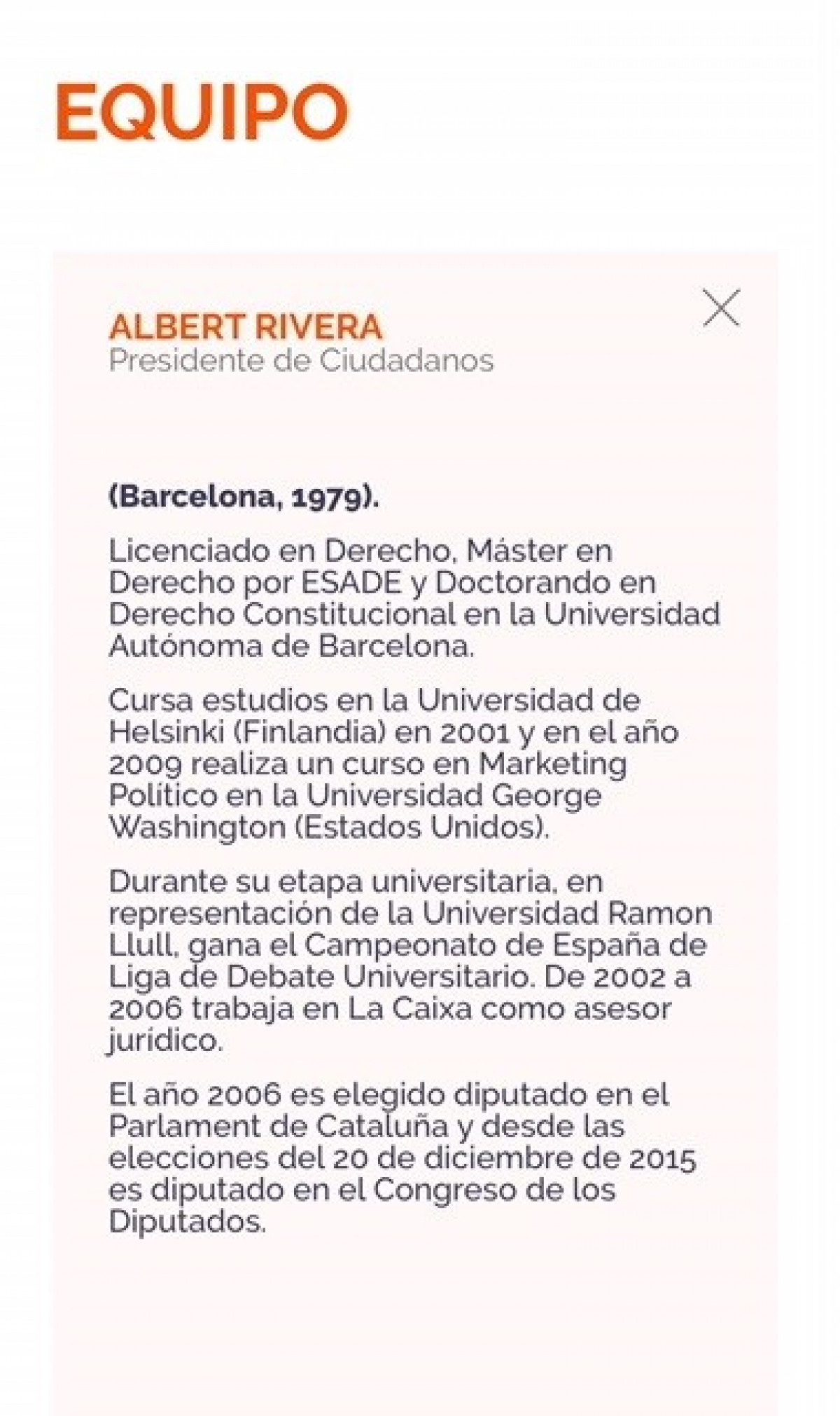 Cv albert rivera