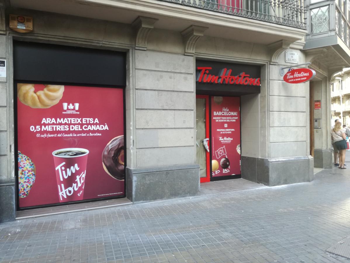 La canadiense Tim Hortons desembarca en Barcelona