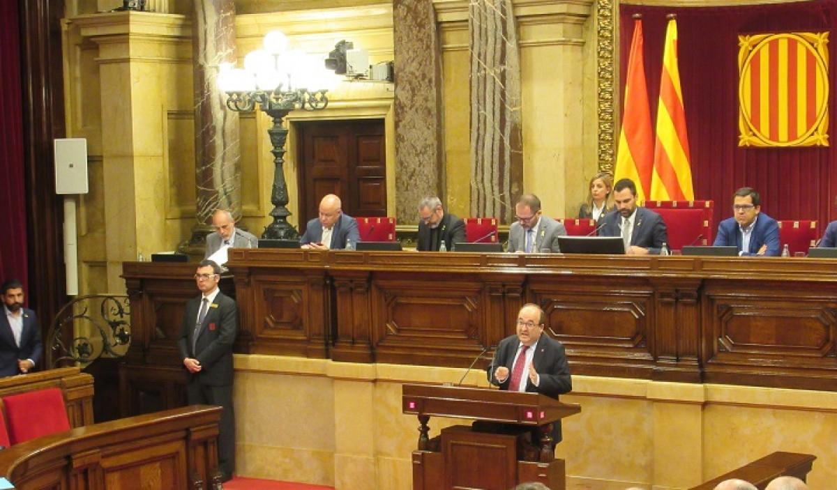 Iceta interviene en el Parlament de Catalunya