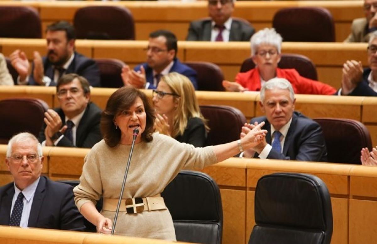 Carmen calvo sesión control gobierno senado 09102018