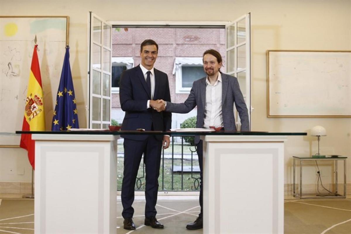 PSOE y Pomedos firma un acuerdo para los Presupuestos 2019. Eduardo Parra