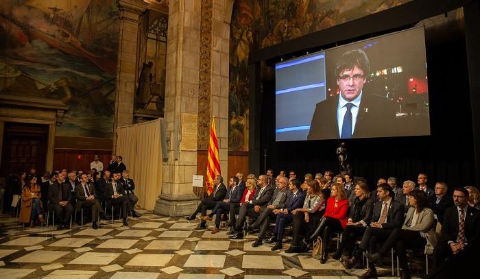 Presentaciu00f3n del Consell per la Repu00fablica en el Palacio de la Generalitat David Zorrakino