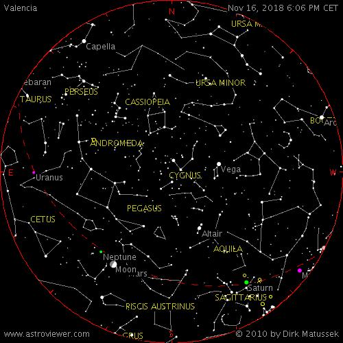 Mapa Del Cielo Nocturno Hoy.Guia Para Observar El Cielo Nocturno