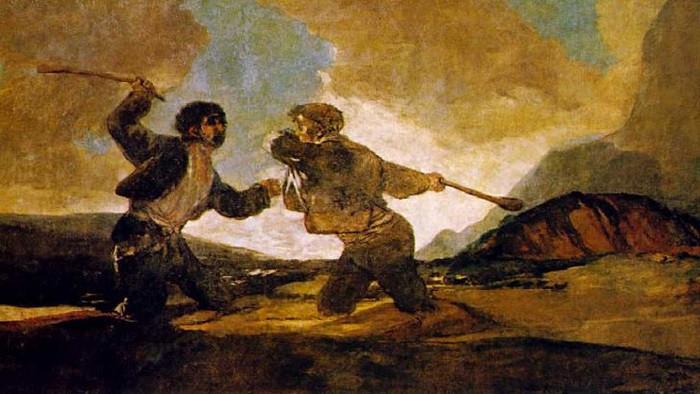 Duelo a garrotazos de Francisco de Goya