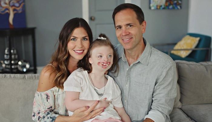 La hija de Natalie, de nueve au00f1os de edad, sufre del su00edndrome de Rett