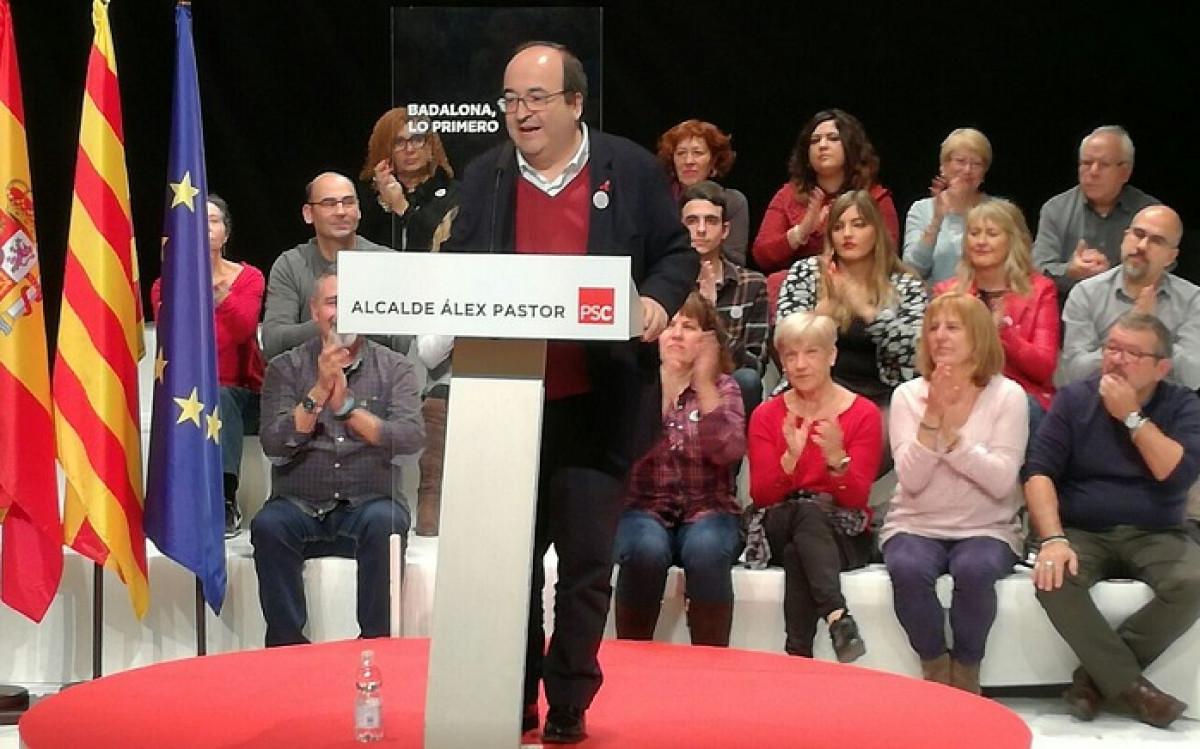 Miquel Iceta en Badalona