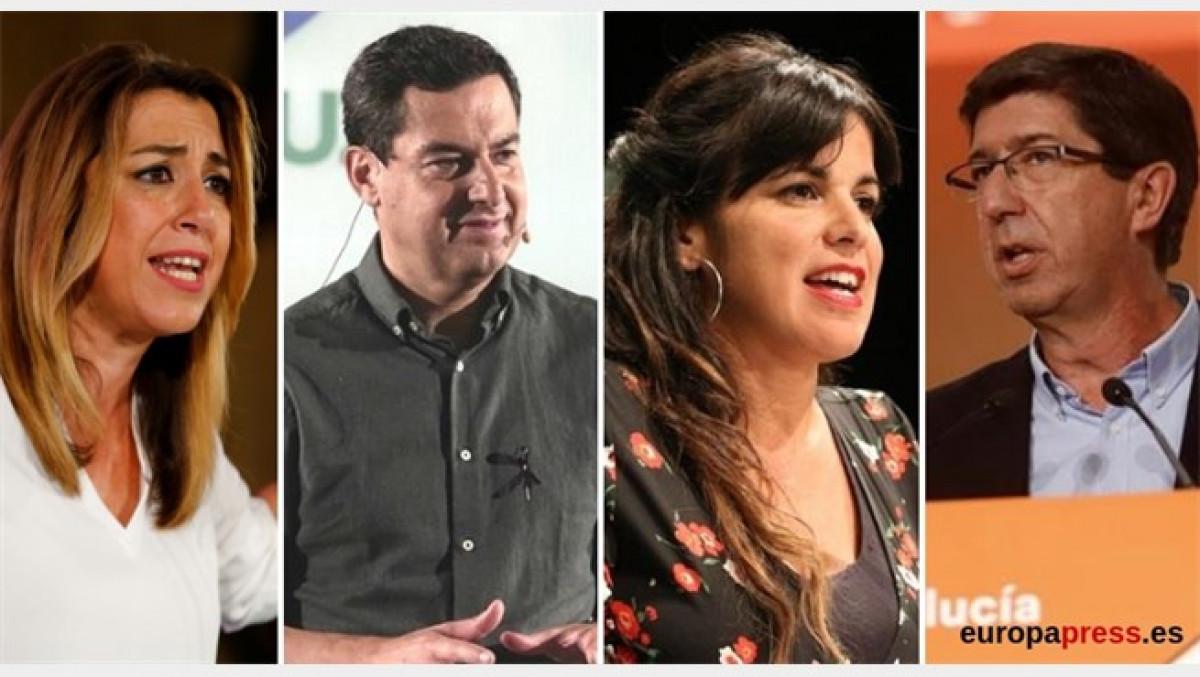 Candidatos de las elecciones en Andalucu00eda