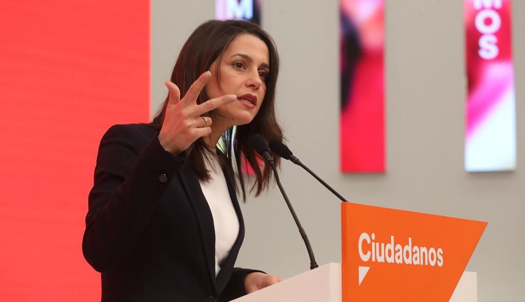 La portavoz de la Ejecutiva y Secretaria de Formación de Ciudadanos, Inés Arrimadas; ofrece una rueda de prensa tras la reunión del Comité Ejecutivo de Cs