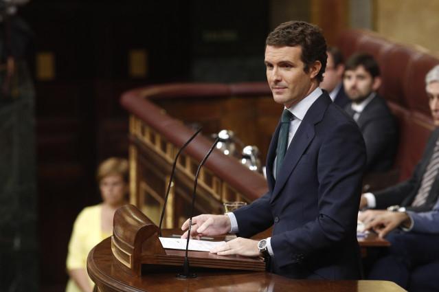 Pablo Casdo interviene en la segunda jornada de investidura de Su00e1nchez