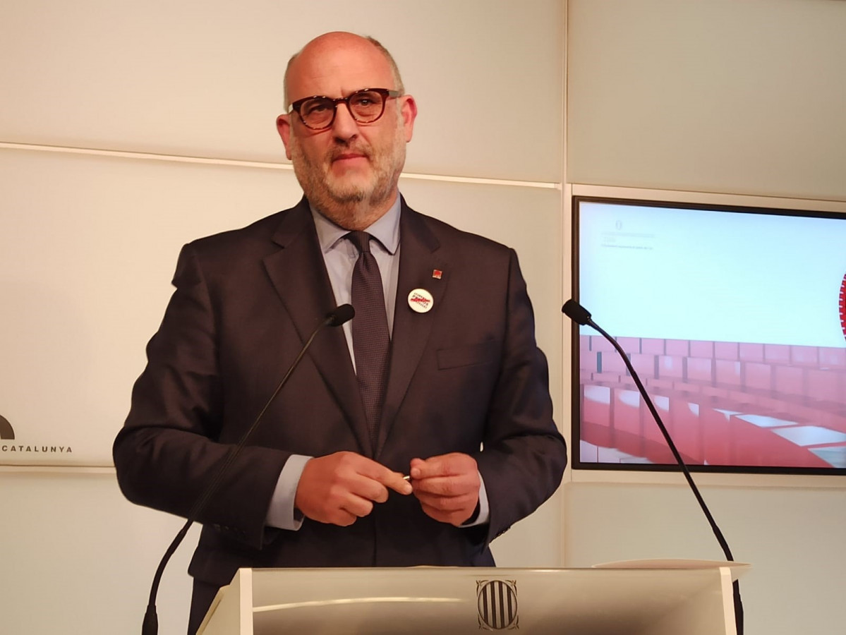 Eduard Pujol (JxCat) en rueda de prensa