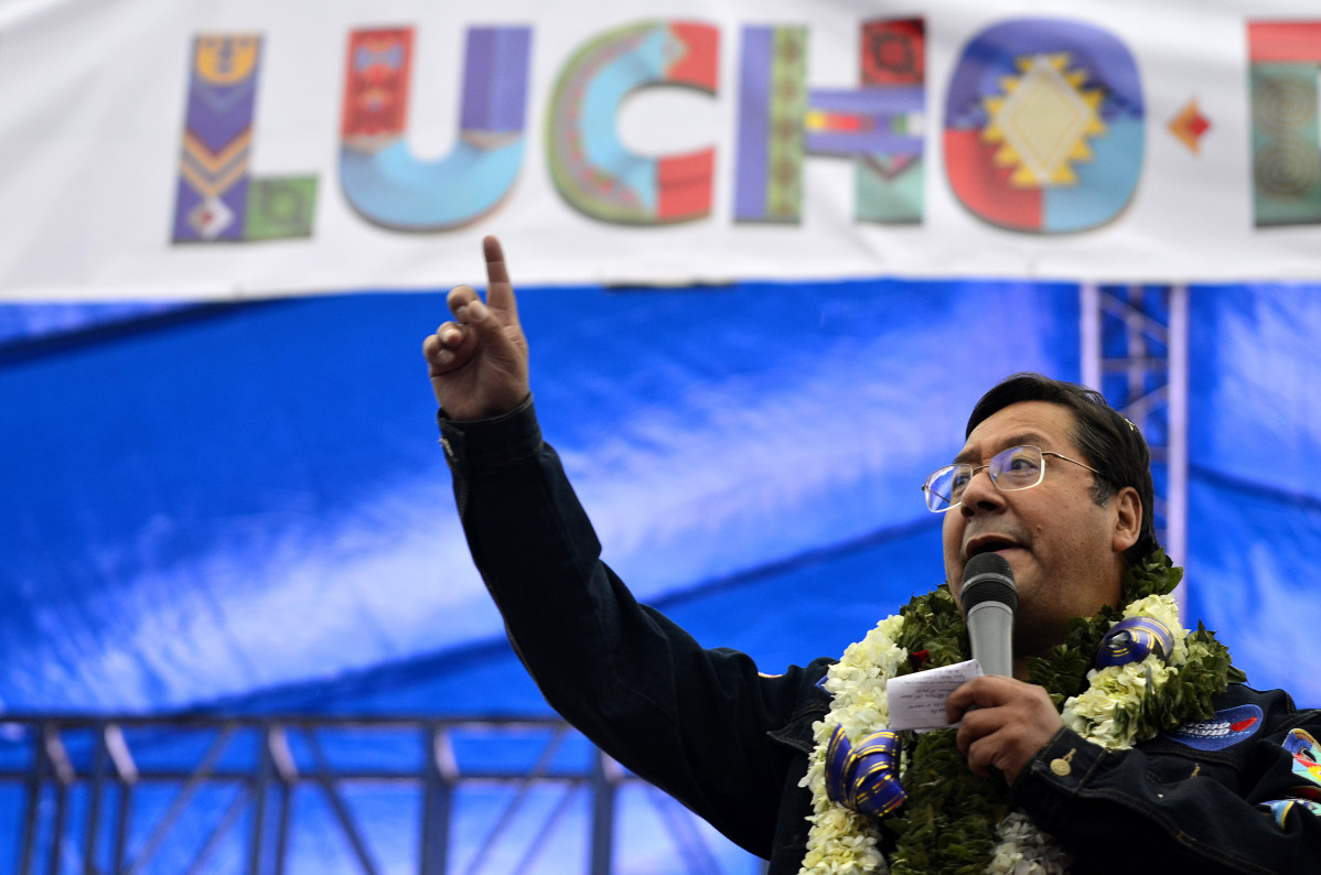EuropaPress 3380659 filed 14 october 2020 bolivia alto luis arce presidential candidate of the