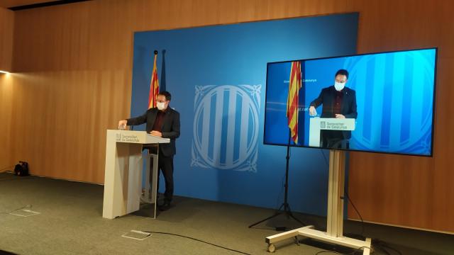 El secretario de Medidas Penales, Reinserción y Atención a la Víctima de la Generalitat, Armand Calderó, en rueda de prensa el 14 de enero de 2021.