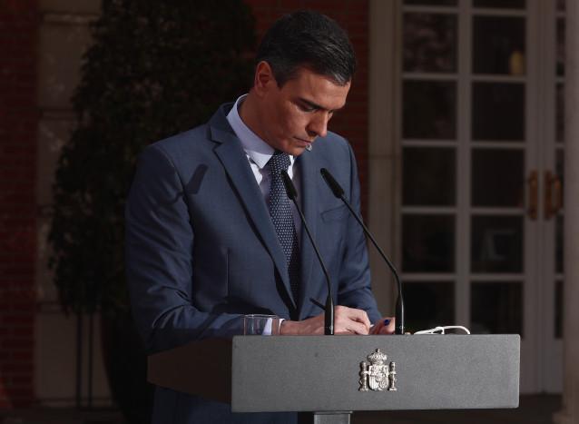 El presidente del gobierno, Pedro Sánchez,