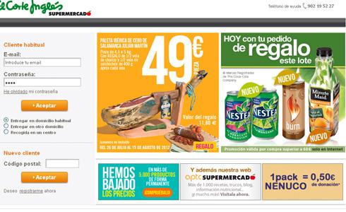 d88615e926c El Corte Inglés relanza su supermercado virtual para impulsar la venta   online